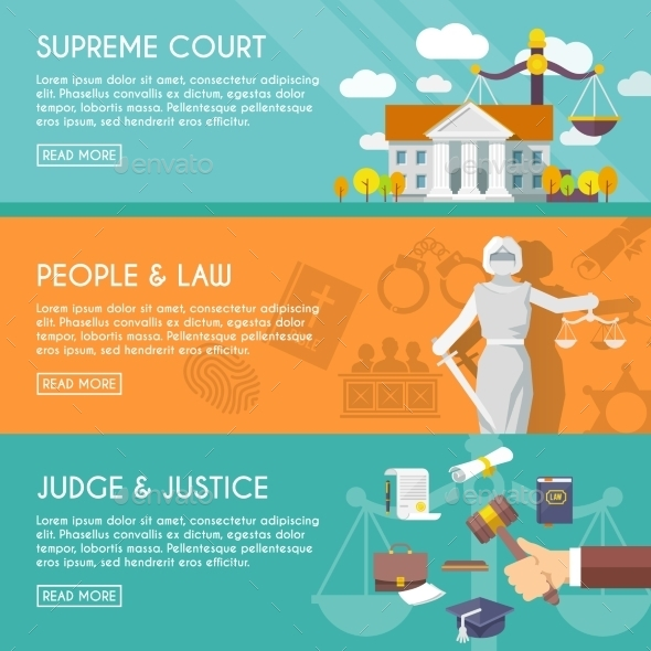 Law Horizontal Banners - Web Technology