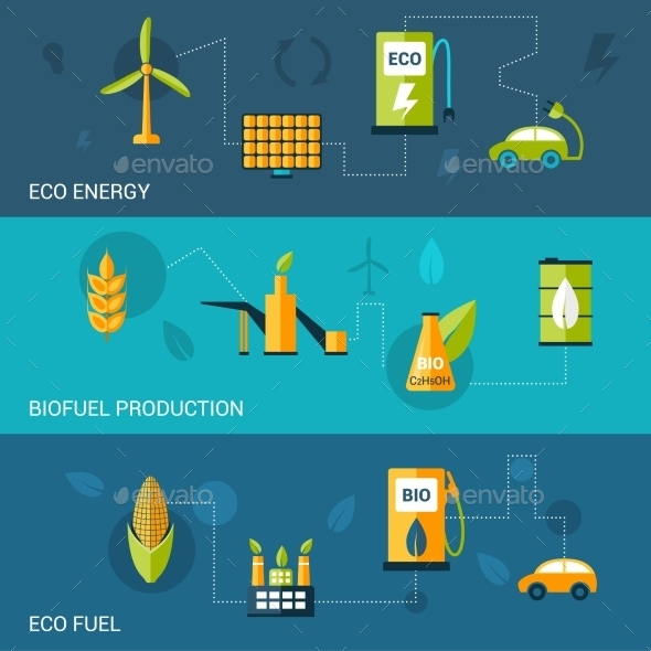 Bio Fuel Flat Banners - Industries Business