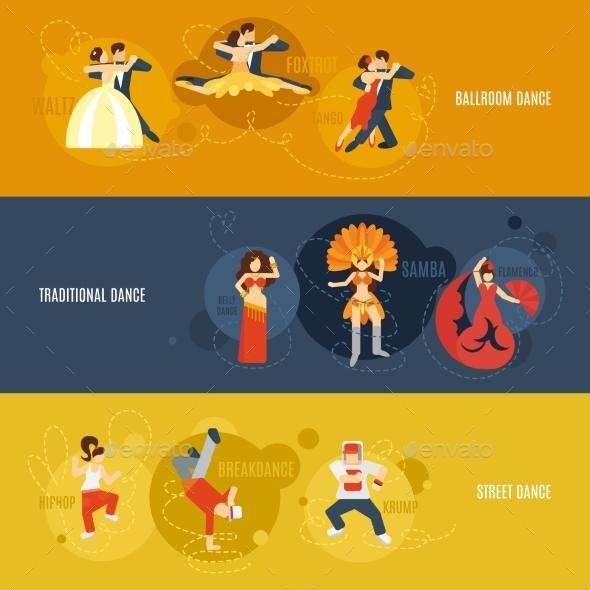 Dance Banner Set - Miscellaneous Vectors