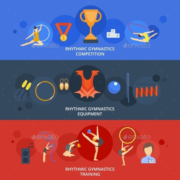 Gymnastics Banner Set - Sports/Activity Conceptual