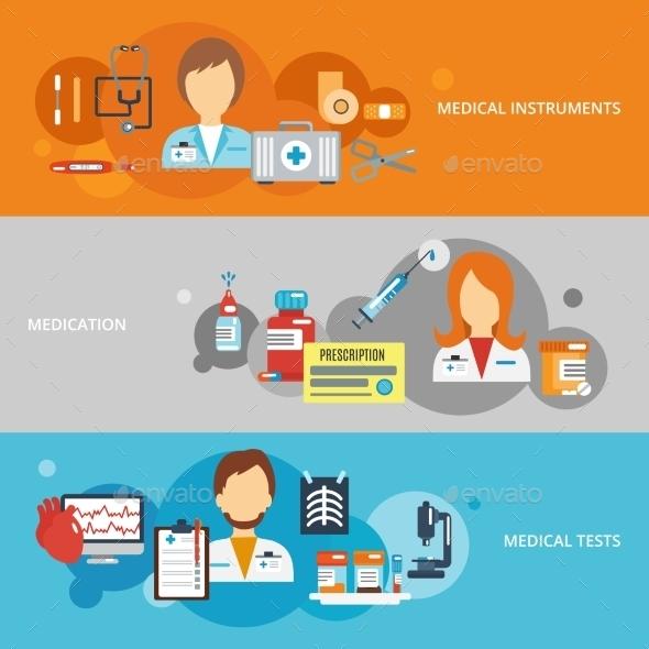 Doctor Banner Set - Health/Medicine Conceptual
