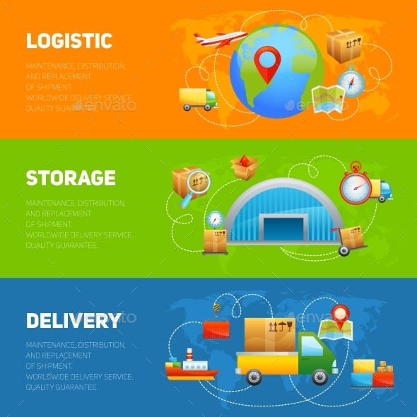Logistic Banner Set - Business Conceptual