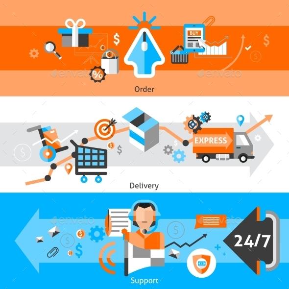 E-Commerce Banners Set - Commercial / Shopping Conceptual
