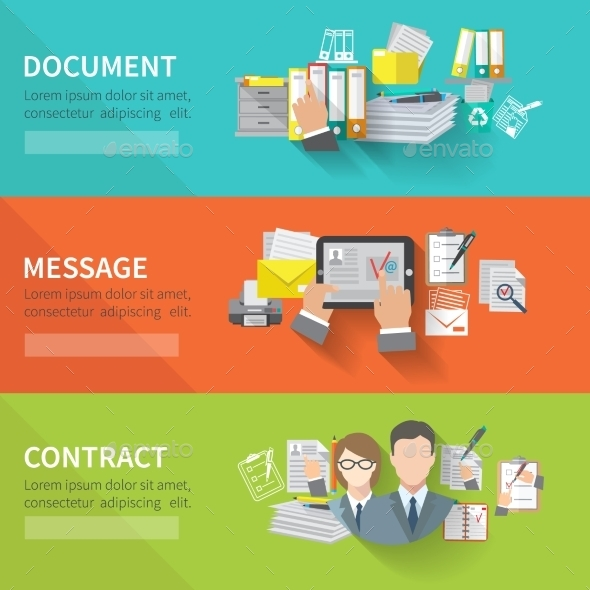 Document Banner Set - Concepts Business