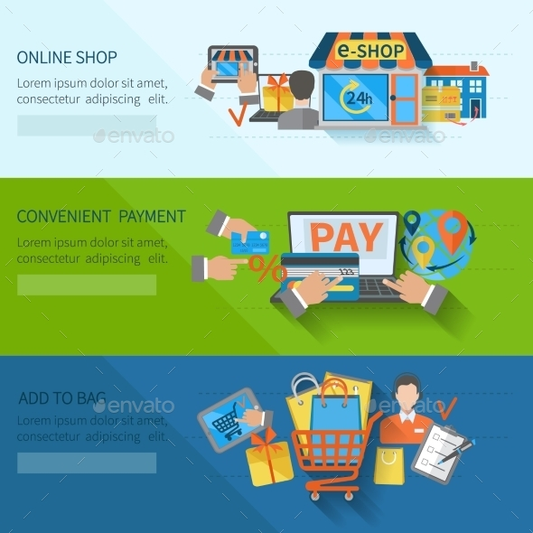 Shopping E-commerce Banners - Business Conceptual
