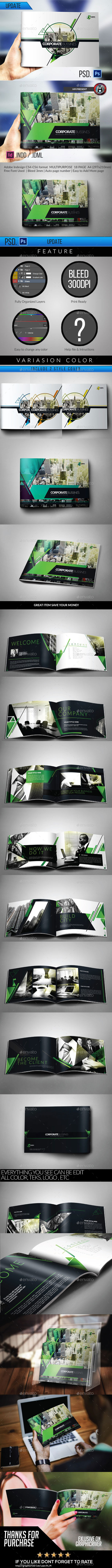 Multipurpose Modern Corporate Geometris Brochure - Corporate Brochures