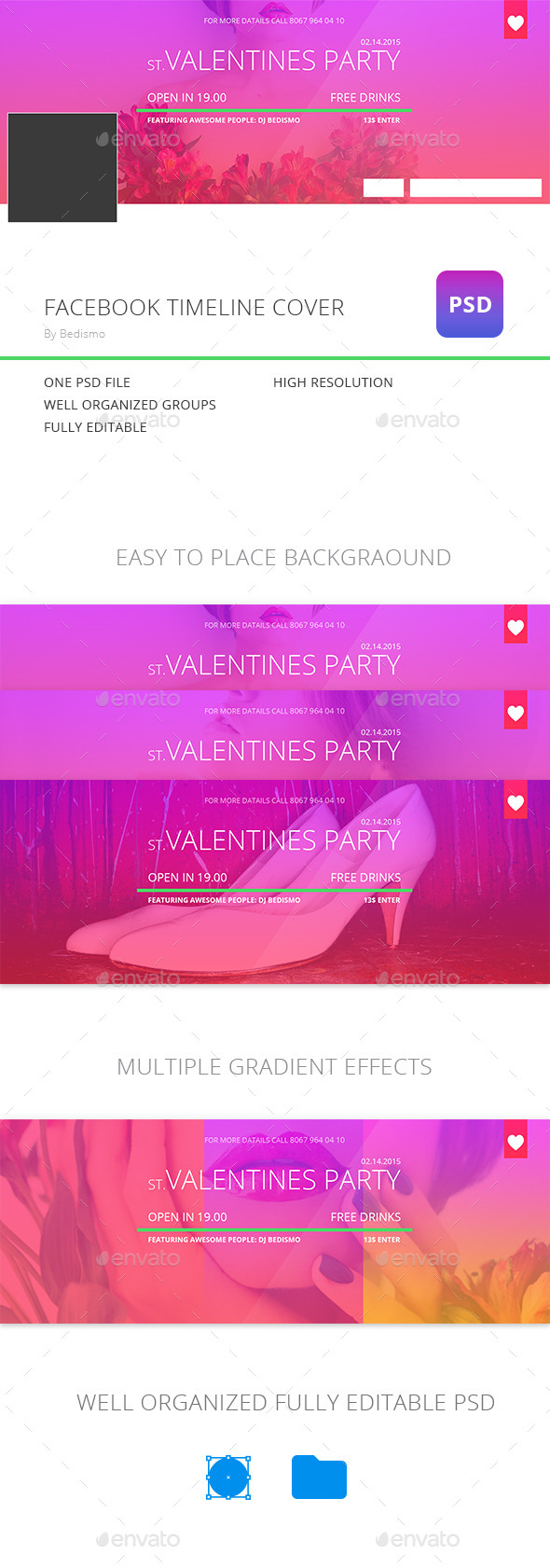 Colorfull Valentines Facebook Timeline Cover - Facebook Timeline Covers Social Media