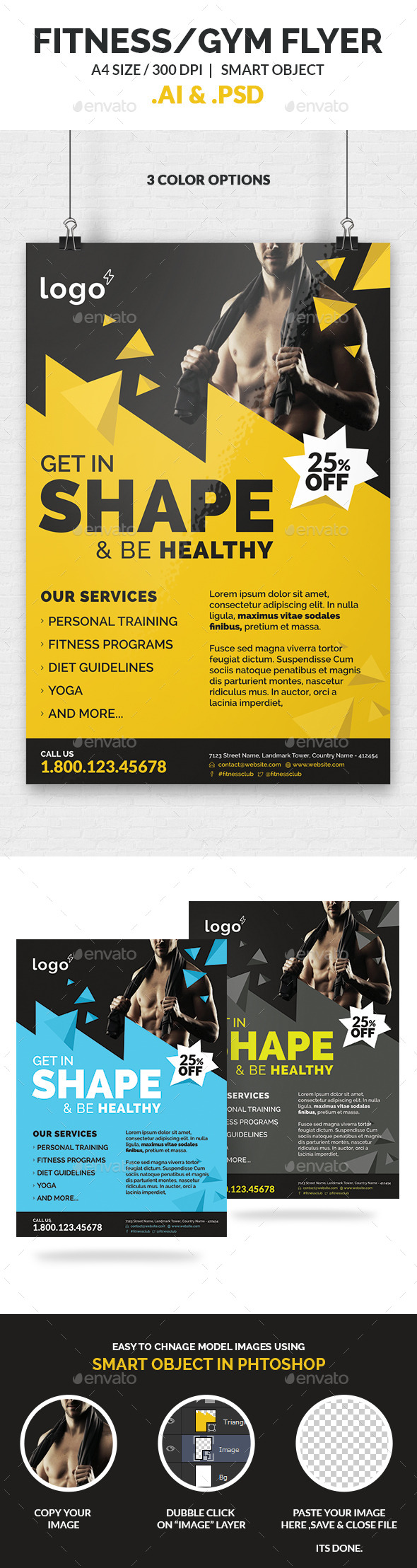 Fitness / Gym  Flyer Template - Sports Events