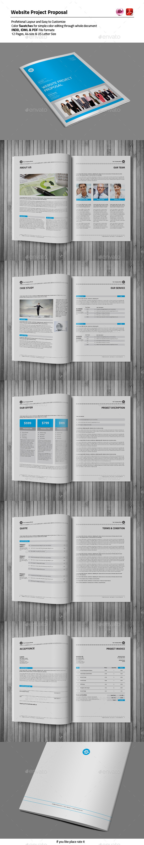 12 Pages Proposal Template - Proposals & Invoices Stationery