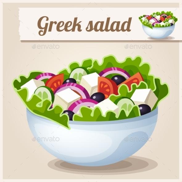 Greek Salad - Food Objects