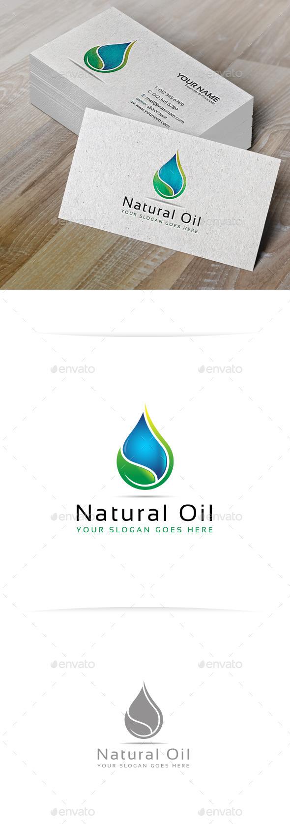 Natural Oil Logo Template - Nature Logo Templates
