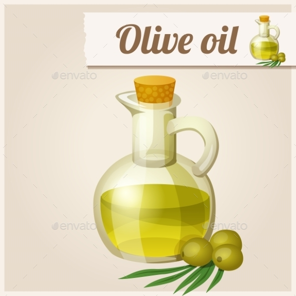 Olive Oil in Bottle - Food Objects