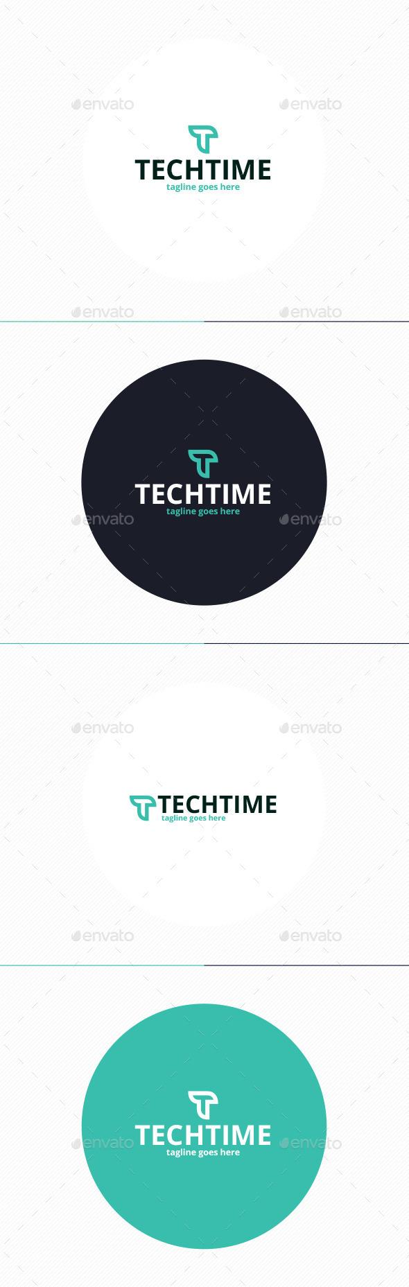 Tech Time Logo • Letter T - Letters Logo Templates