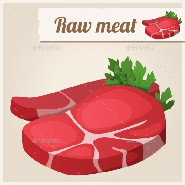 Raw Fresh Meat - Food Objects