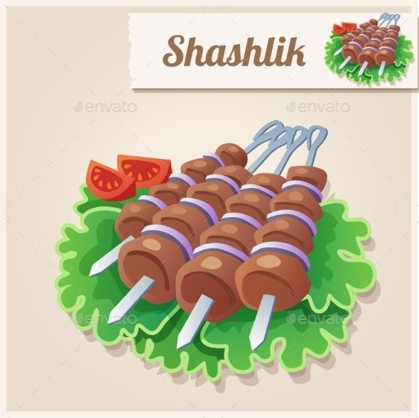 Shashlik - Food Objects