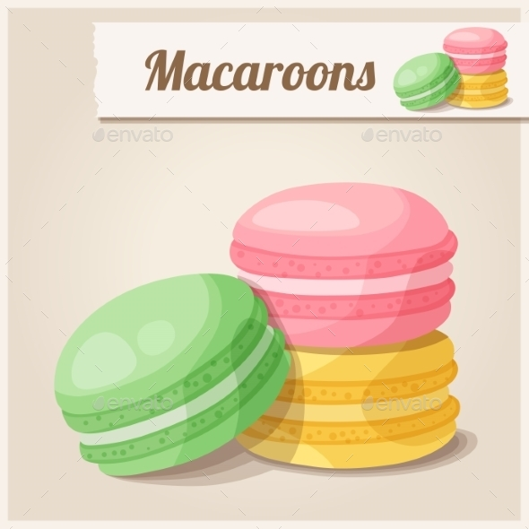 Macaroons - Food Objects