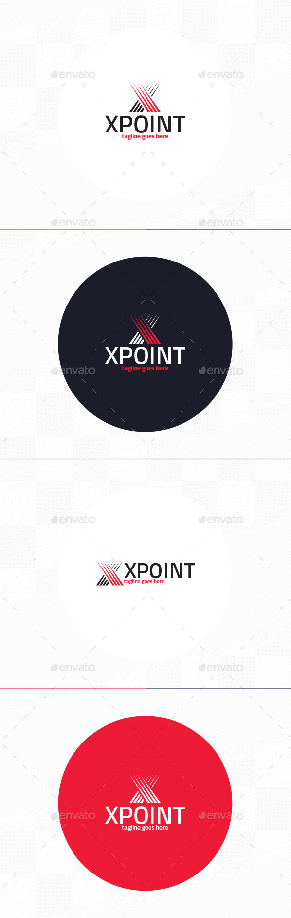 X Point Logo • Letter X - Letters Logo Templates