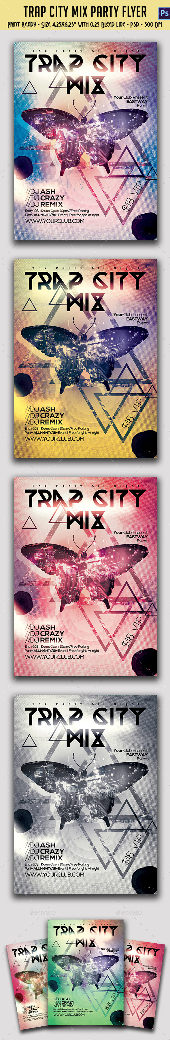 Trap City Mix Party Template - Clubs & Parties Events