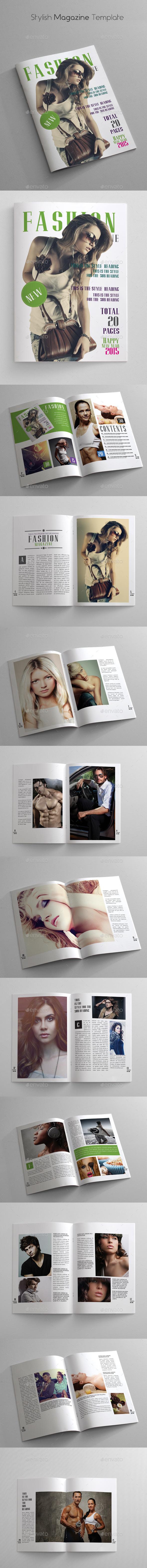 Stylish Magazine Template - Magazines Print Templates
