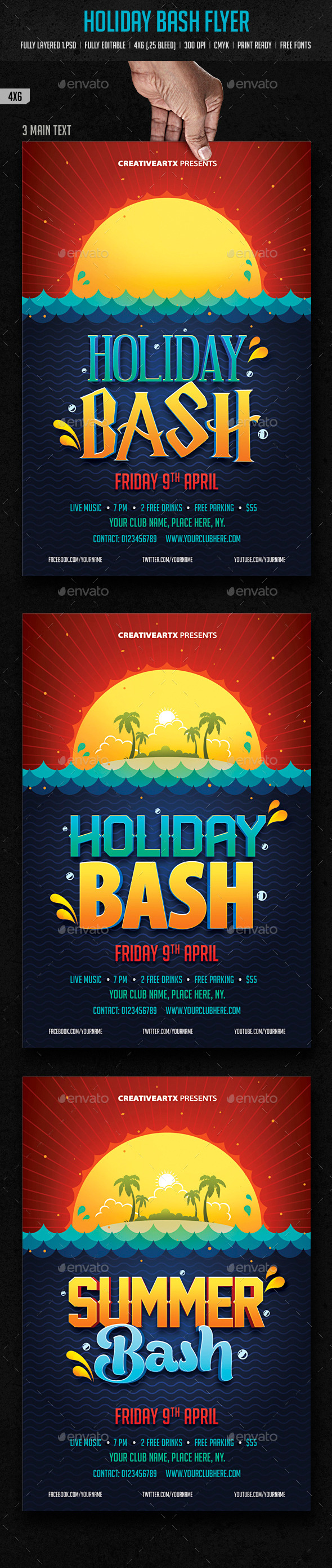 Holiday Bash Flyer - Clubs & Parties Events