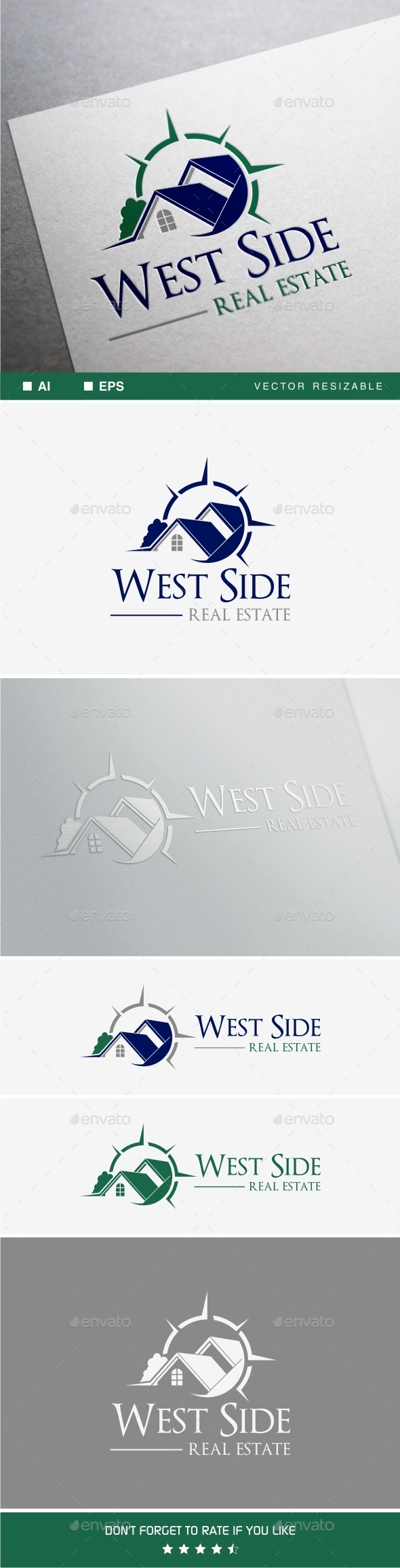 West Side Real Estate - Buildings Logo Templates