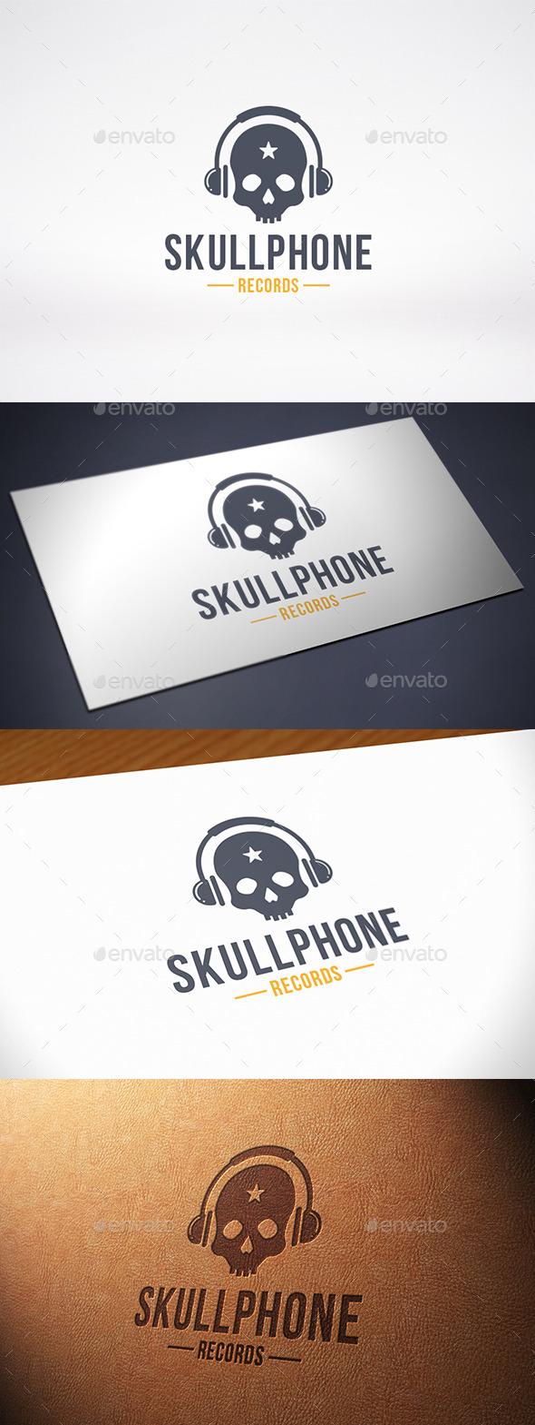 Music Skull Logo Template - Symbols Logo Templates