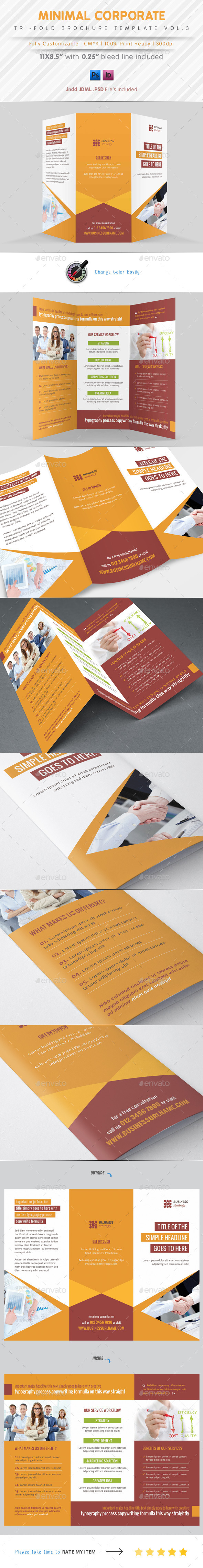 Minimal Tri Fold Vol.3 - Corporate Brochures