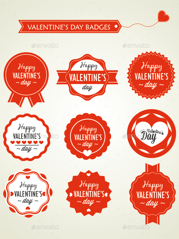 Valentine's Day Badges - Valentines Seasons/Holidays