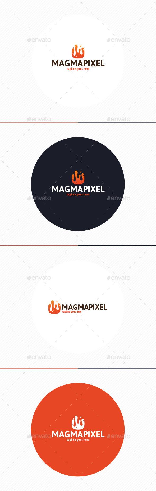 Magma Pixel Logo - Vector Abstract