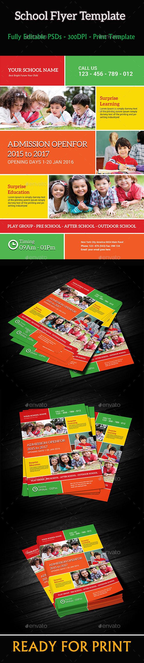 School Flyer Template - Flyers Print Templates