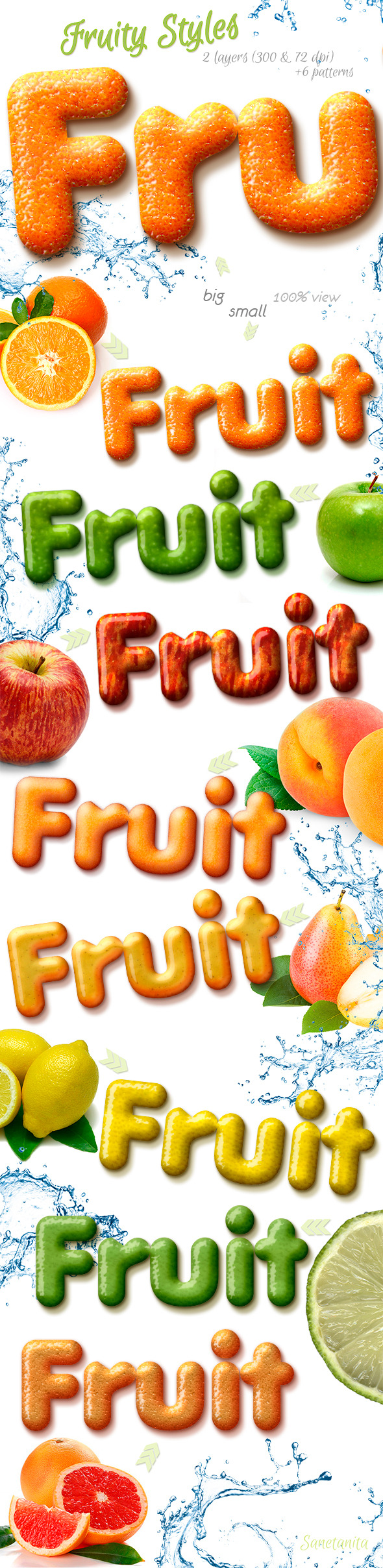 Fruity Styles - Text Effects Actions