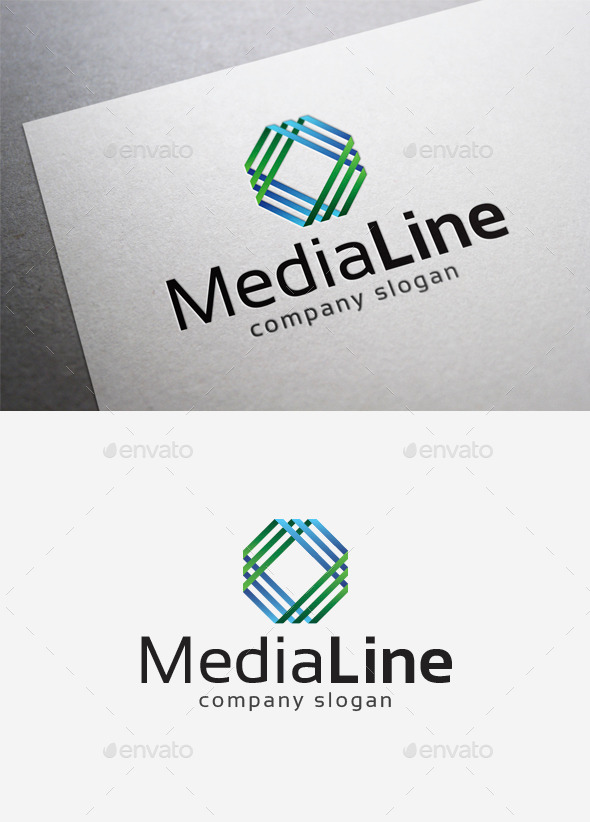 Media Line Logo - Abstract Logo Templates