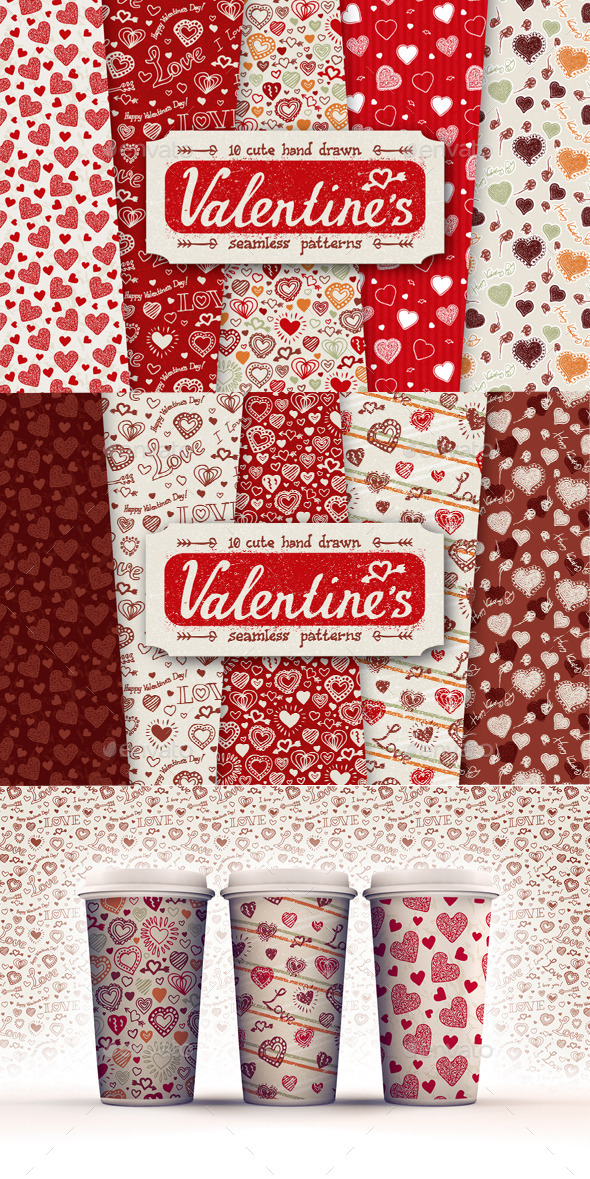 10 Valentines Day Patterns - Patterns Decorative