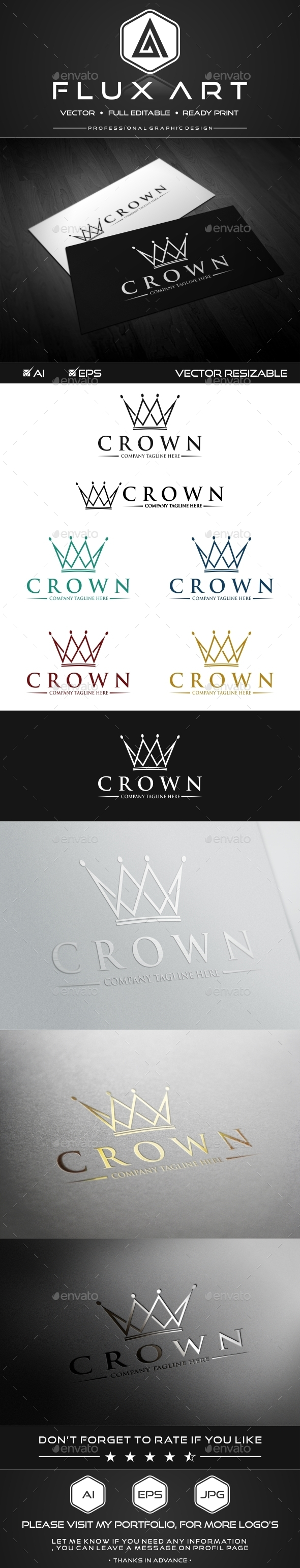 Royal Crown Logo - Crests Logo Templates