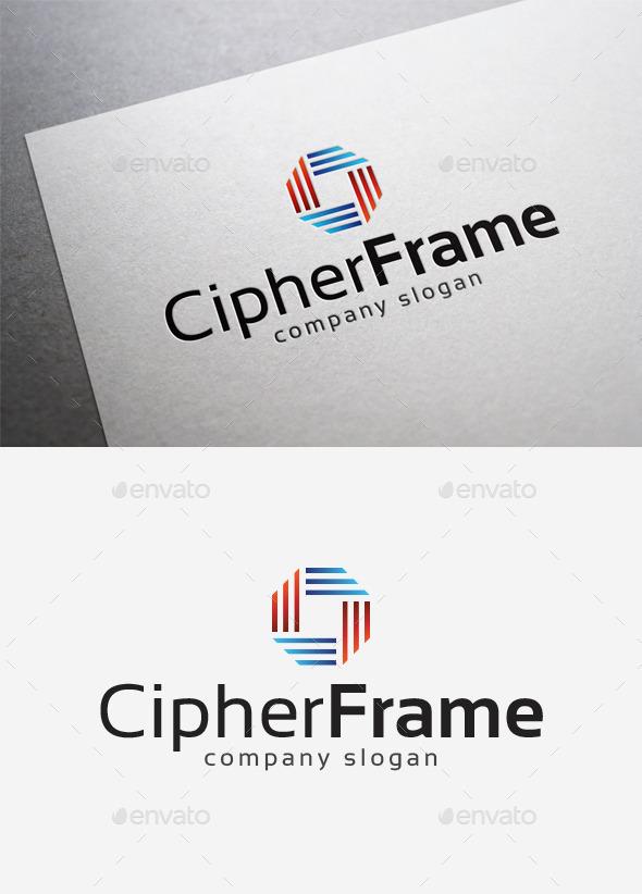 Cipher Frame Logo - Abstract Logo Templates