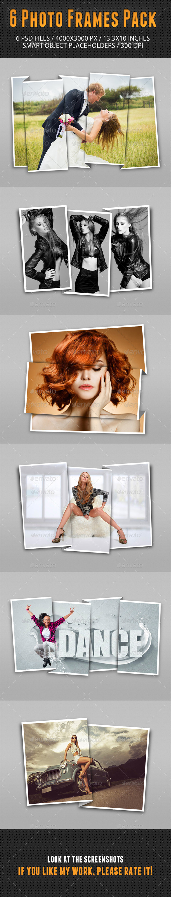 Photo Frames Pack 13 - Photo Templates Graphics
