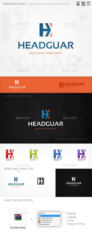 Headguar Letter H Logo Template - Letters Logo Templates