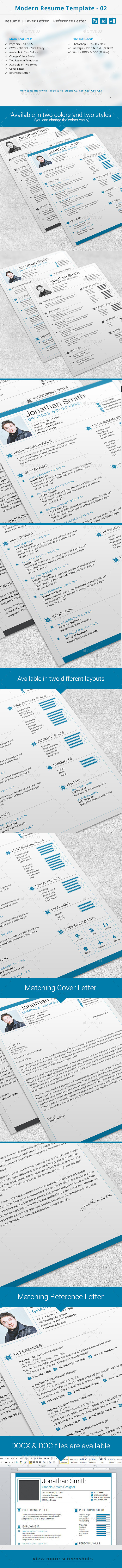 Modern Resume Template - 02 - Resumes Stationery