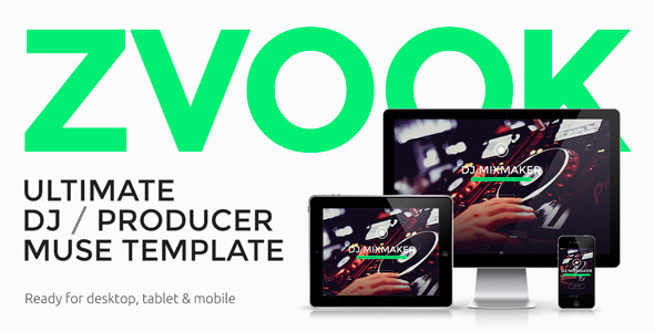 Zvook –  Ultimate DJ / Producer / Artist Personal Site Muse Template