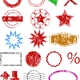 Vector Stamps, borders and shapes - GraphicRiver Item for Sale