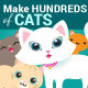Cat Creation Kit - GraphicRiver Item for Sale