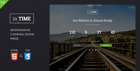 inTime – Responsive Coming Soon Template