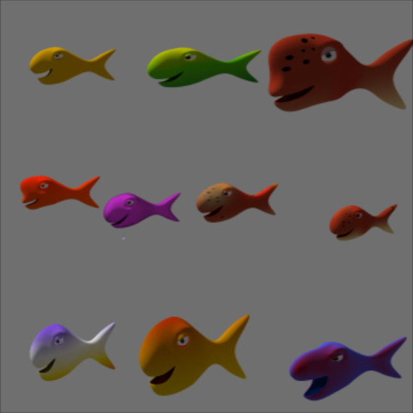 3d fish - 3DOcean Item for Sale