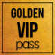 Golden style vip pass card - GraphicRiver Item for Sale