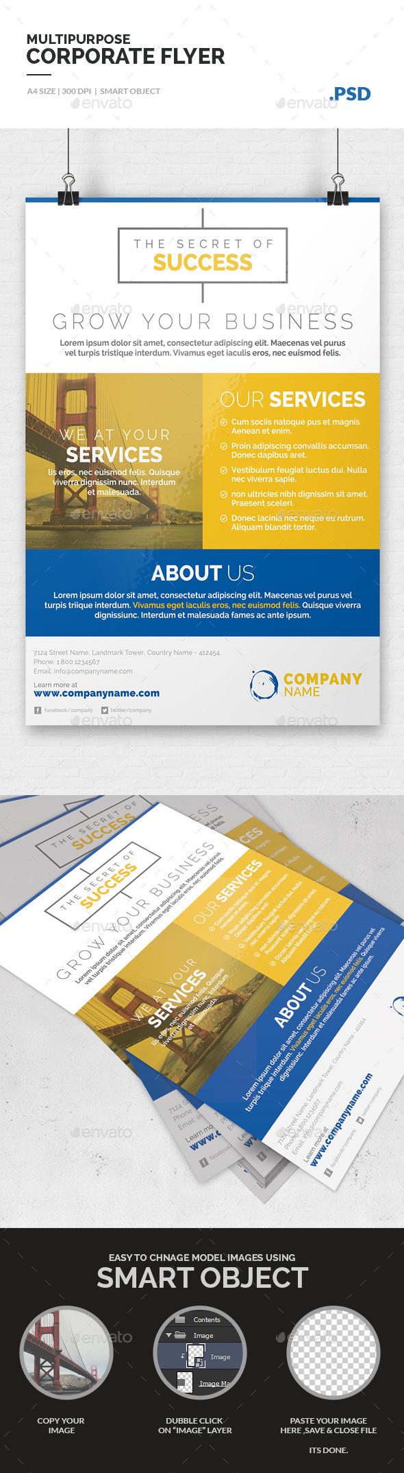 Multipurpose Corporate Flyer Template - Corporate Flyers