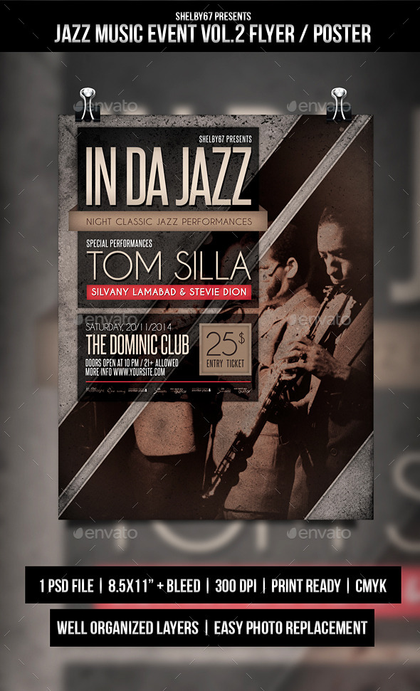 Jazz Music Event Flyer / Poster Vol.2 - Events Flyers