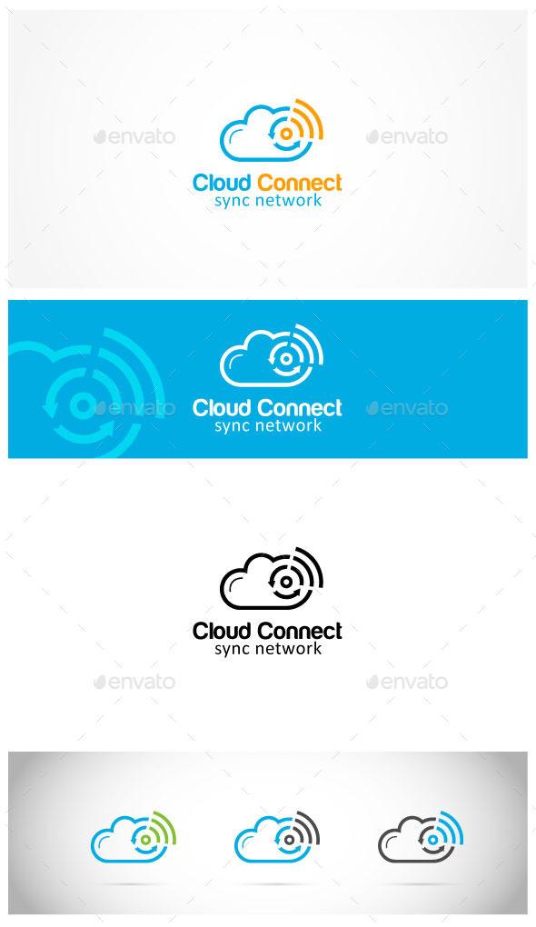 Cloud Connect - Symbols Logo Templates
