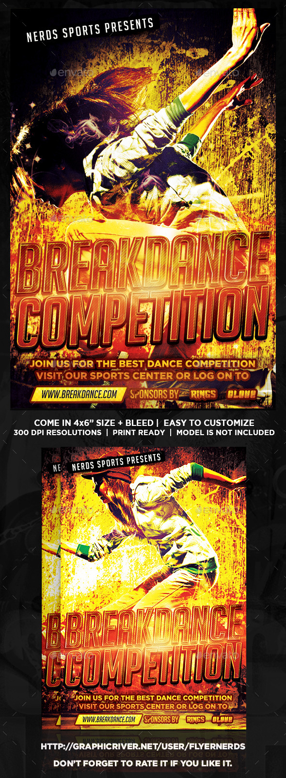 Break Dance Competition Sports Flyer - Sports Events