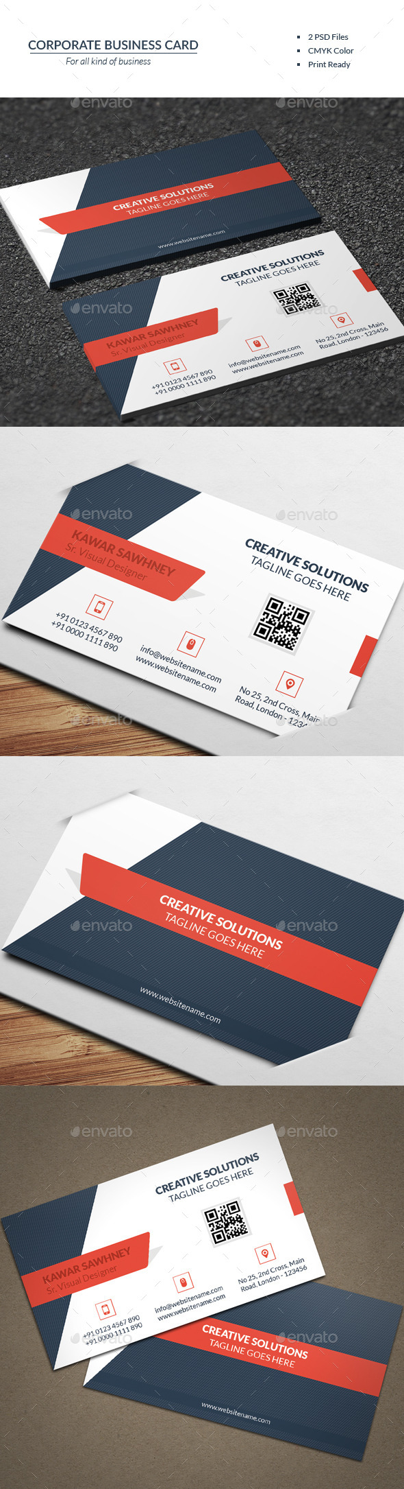 Corporate Business Card 12 - Business Cards Print Templates