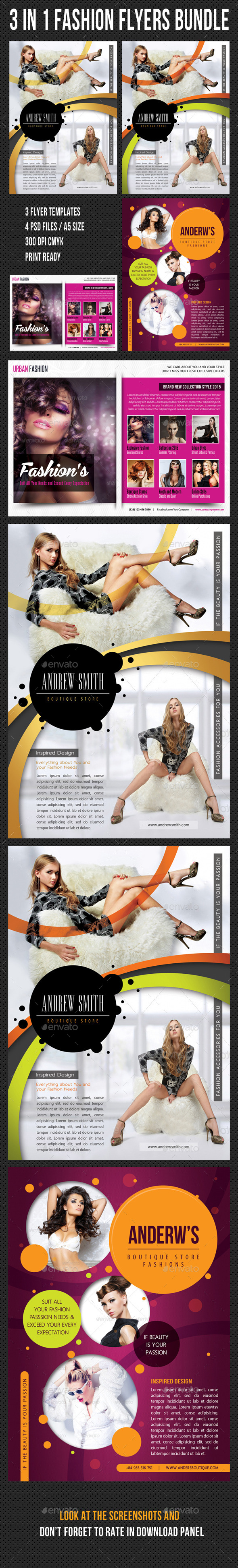 3 in 1 Fashion Product Flyer Bundle 21 - Corporate Flyers